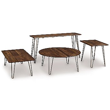 Essentials Coffee Table with Essentials End Table, Essentials Round Coffee Table and Essentials Round End Table