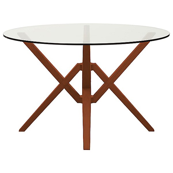 Exeter Round Glass Dining Table