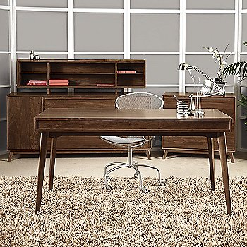 Linear Office Storage File  with Catalina Desk with Keyboard Tray, Catalina Organizer and Linear Office Storage Credenza
