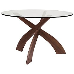 Statements Entwine Round Glass Top Dining Table