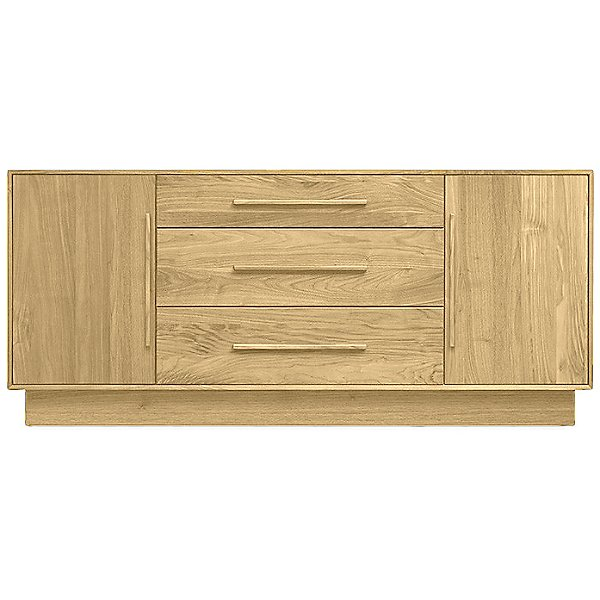 Moduluxe Three-Drawer Dresser with Flanked Doors, 29-Inch High