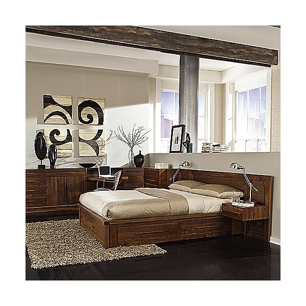 Moduluxe 35-Inch Storage Bed with Panel Headboard
