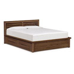 Moduluxe 35-Inch Storage Bed with Clapboard Headboard