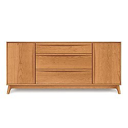 Catalina Cherry Three-Drawer Buffet with Flanked Doors