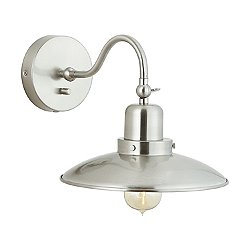 Industrial Wall Sconce (Brushed Nickel) - OPEN BOX RETURN