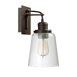 Tapered Glass Wall Sconce (Burnished Bronze)-OPEN BOX RETURN