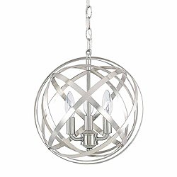 Axis Round Pendant (Brushed Nickel/3 Lights)-OPEN BOX RETURN