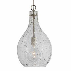 Large Seeded Glass Pendant (Brushed Nickel)-OPEN BOX RETURN