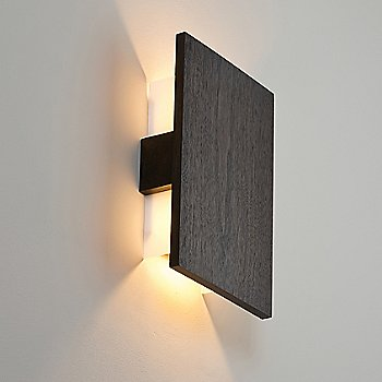 Shown lit with solid Dark Stained Walnut (no metal finish)