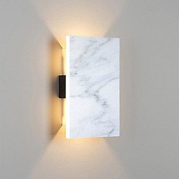 Carrara Marble/Dark Stained Walnut finish