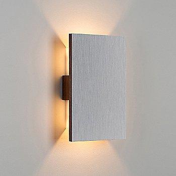 Brushed Aluminum/ Walnut