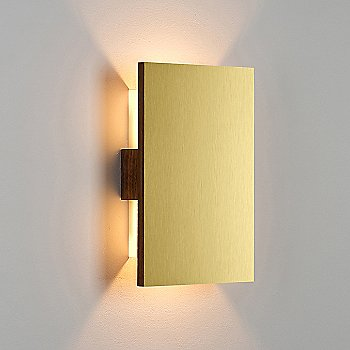 Brushed Brass/ Walnut