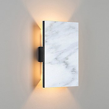 Carrara Marble/ Dark Stained Walnut