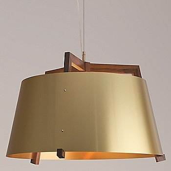 Large size / Brushed Brass and Walnut finish