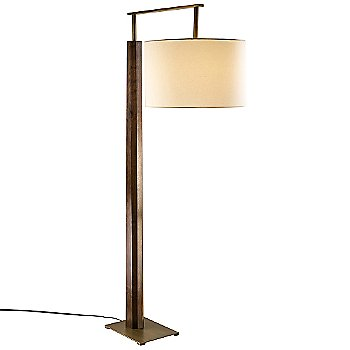 Shown lit with Distressed Brass/Oiled Walnut/White Linen