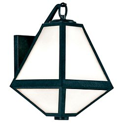 Glacier White Glass Outdoor Sconce