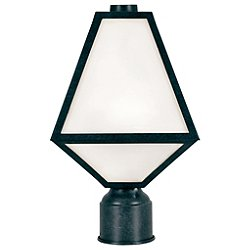 Glacier White Glass Outdoor Post Light