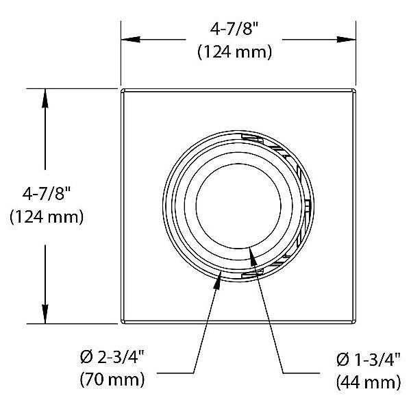 Concerto 4 Inch LED Square Adjustable Trim