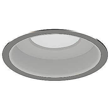 Brushed Nickel Trim finish with Matte White Reflector