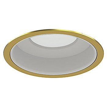 Gold Plated 24K Trim finish with Matte White Reflector
