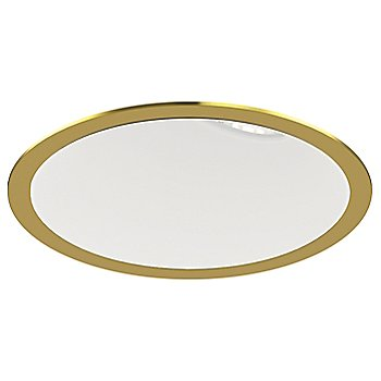 Gold Plated 24K Trim finish with Matte White Interior Finish