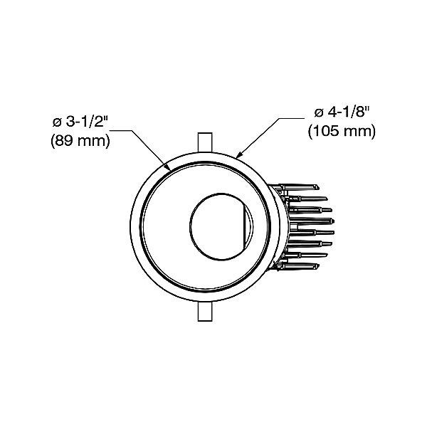 Ardito 3.5 Inch Ultra-Thin Wall Wash Trim