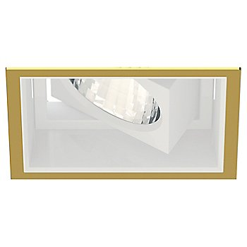 Gold Plated 24K Trim finish with Matte White Reflector Finish