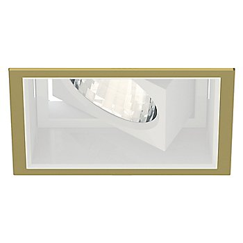 Gold Plated 24K trim finish / Matte White reflector finish