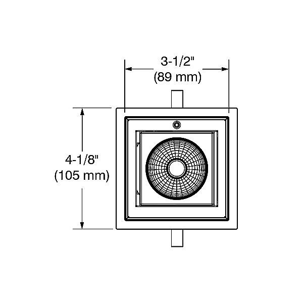 Ardito 3.5 Inch Ultra-Thin Square Adjustable Trim