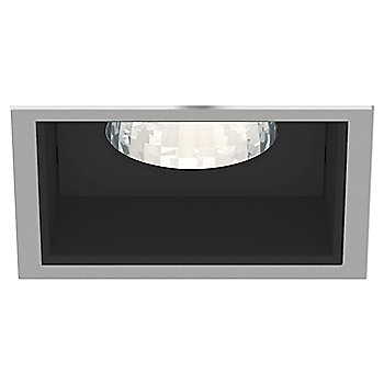 Brushed Nickel Trim finish with Black Reflector