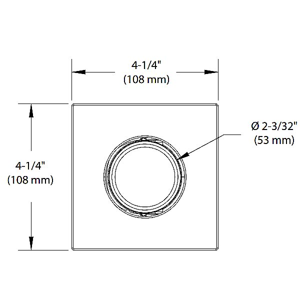 Concerto 3.5 Inch LED Adjustable Square Trim