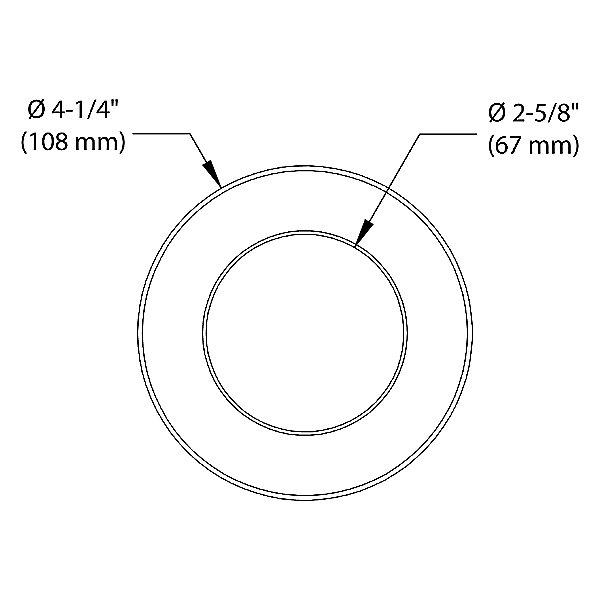 Concerto 3.5 Inch LED Round Shower Trim