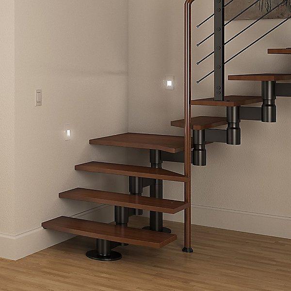 Vertical Recessed LED Step Light