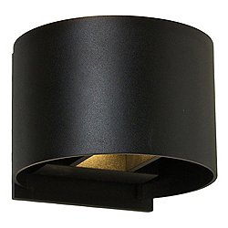 Round Directional LED Wall Sconce (Black) - OPEN BOX RETURN