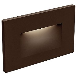 Horizontal Recessed LED Step Light (Bronze) - OPEN BOX