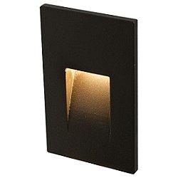 Vertical Recessed LED Step Light (Black) - OPEN BOX RETURN