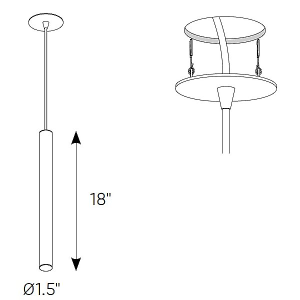Cylindrical LED Mini Pendant Light