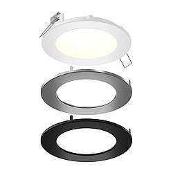 Round LED Panel Light With Interchangeable Trims