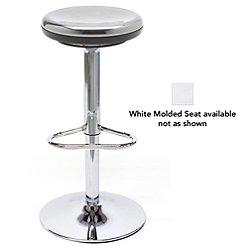 Octave Stool (Polished Base/White Molded Seat) - OPEN BOX RETURN
