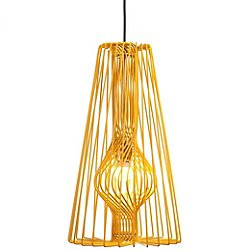Wire Pendant Light (Yellow) - OPEN BOX RETURN