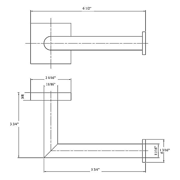 Geometri Toilet Paper Holder D5.202