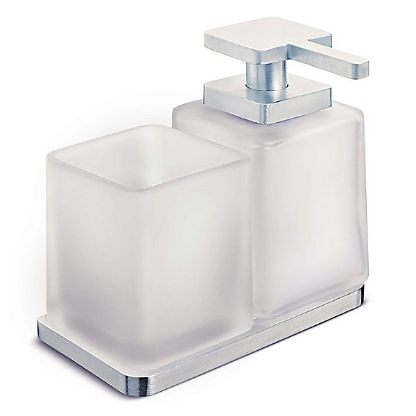 Harmoni Double Holder with Soap Dispenser and Tumbler