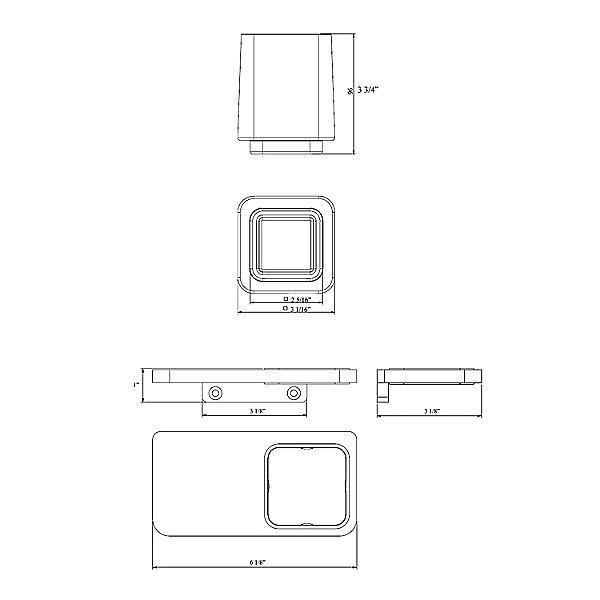 Harmoni Wall Mounted Double Tumbler Holder Kit