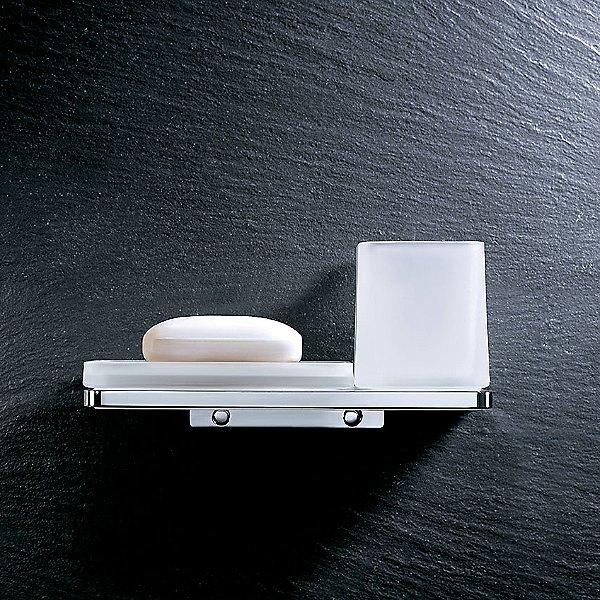 Harmoni Wall Mounted Double Holder with Shelf