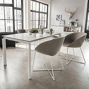Extra White Glass / Steel White finish