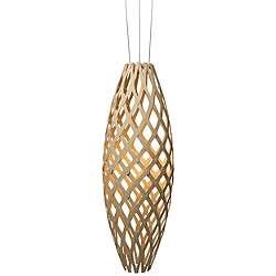 Hinaki Led Pendant Light Natural Bamboo Open Box Return