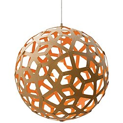 Coral Pendant Light (Natural and Orange/16 inch) - OPEN BOX RETURN