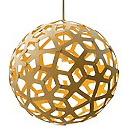 Coral Pendant Light (Natural and Yellow/24 inch) - OPEN BOX RETURN