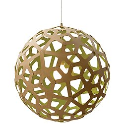 Coral Pendant Light (Natural and Lime/16 inch) - OPEN BOX RETURN