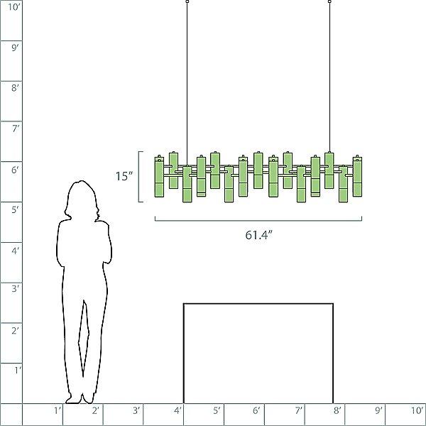 Ike Linear Suspension Light